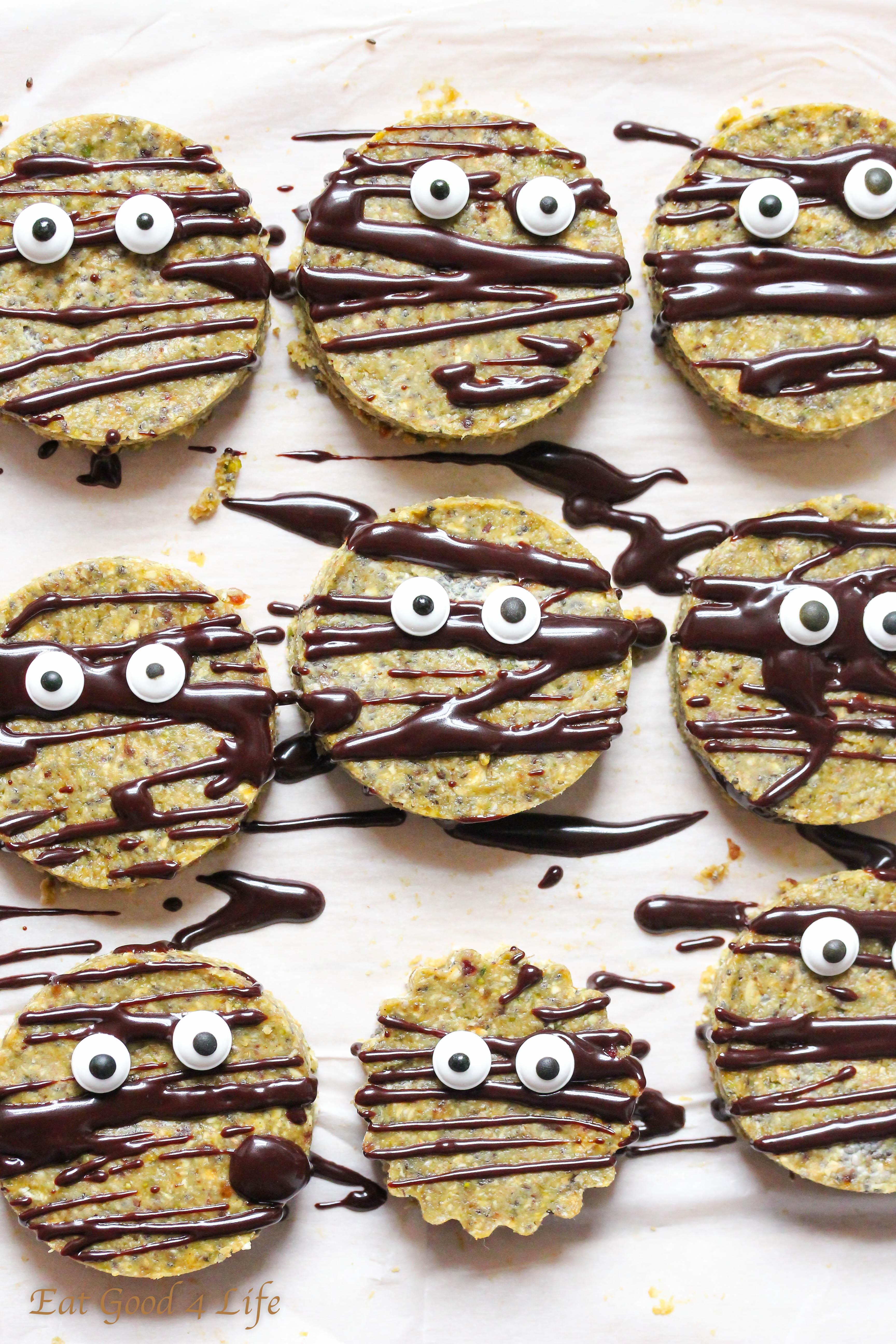 Raw Halloween Cookies Vegan Gluten Free