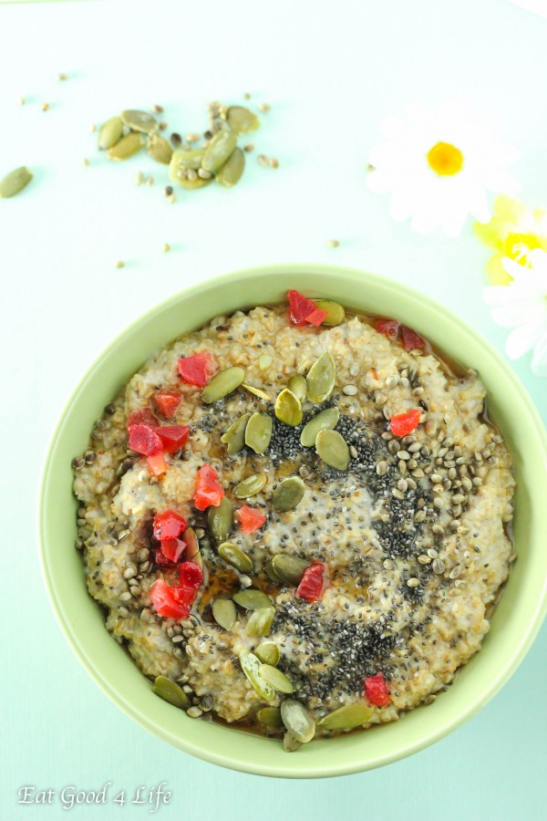 pumpkin oatmeal bowl-gluten free and vegan