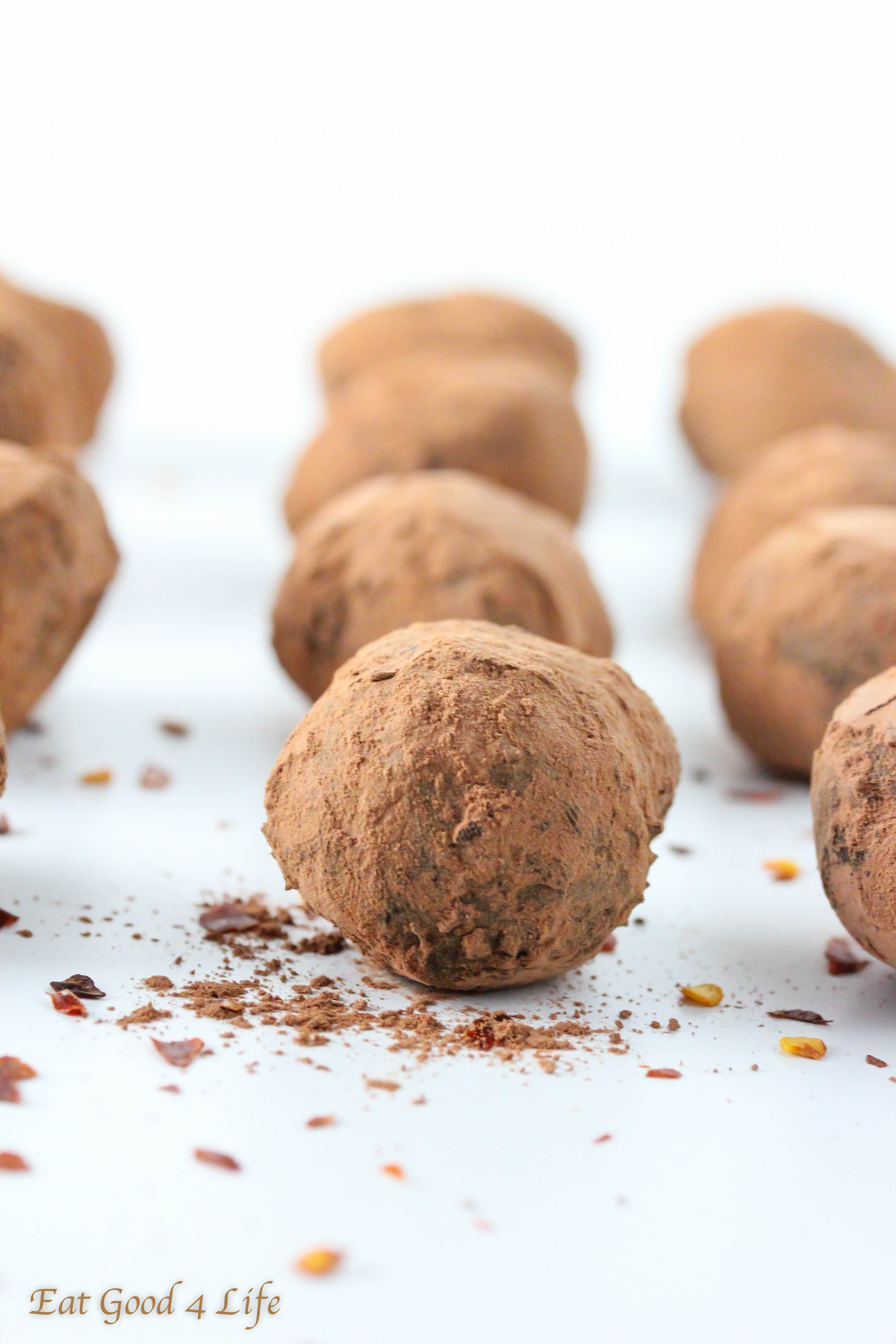 chili chocolate truffles are truly the bomb the mixture of chocolate ...