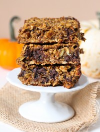 gluten free pumpkin bars with no oil or butter