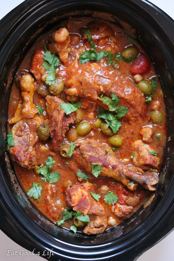 This slow cooker moroccan chicken is super easy to put together. You ...