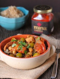 Harissa slow cooker moroccan chicken.
