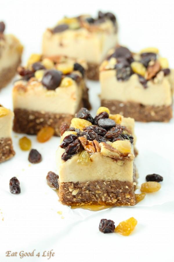 raisin cheesecake-gluten free and vegan