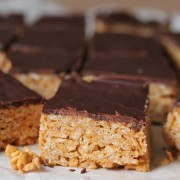 Scotcheroo protein bars- Gluten free and vegan