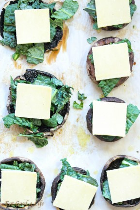 kale stuffed portobello mushrooms-Gluten free