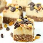 No bake raisin cheesecake-gluten free and vegan