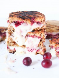 cranberry chia grilled cheese sandwich