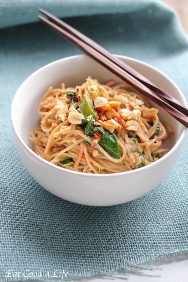 Peanut coconut noodles