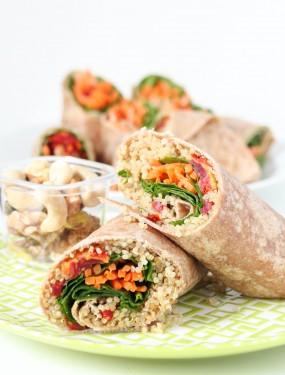 Quinoa vegetable wrap