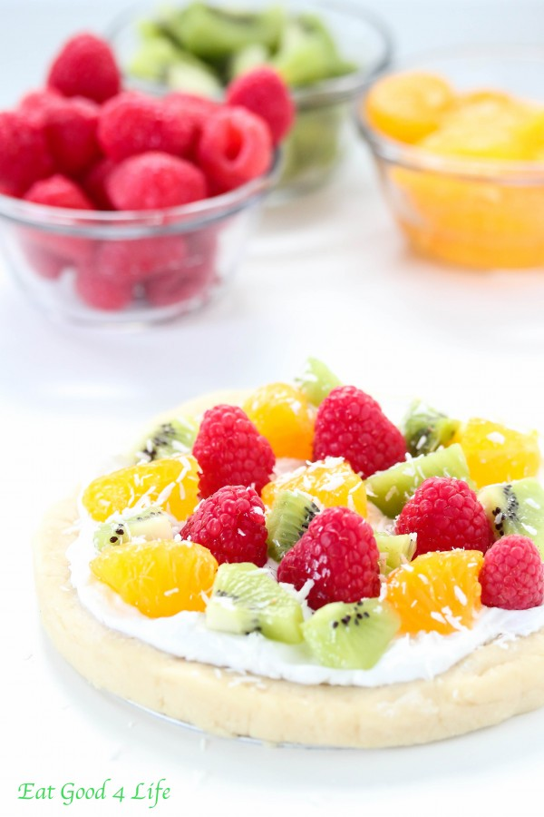 No bake gluten free vegan fruit pizza