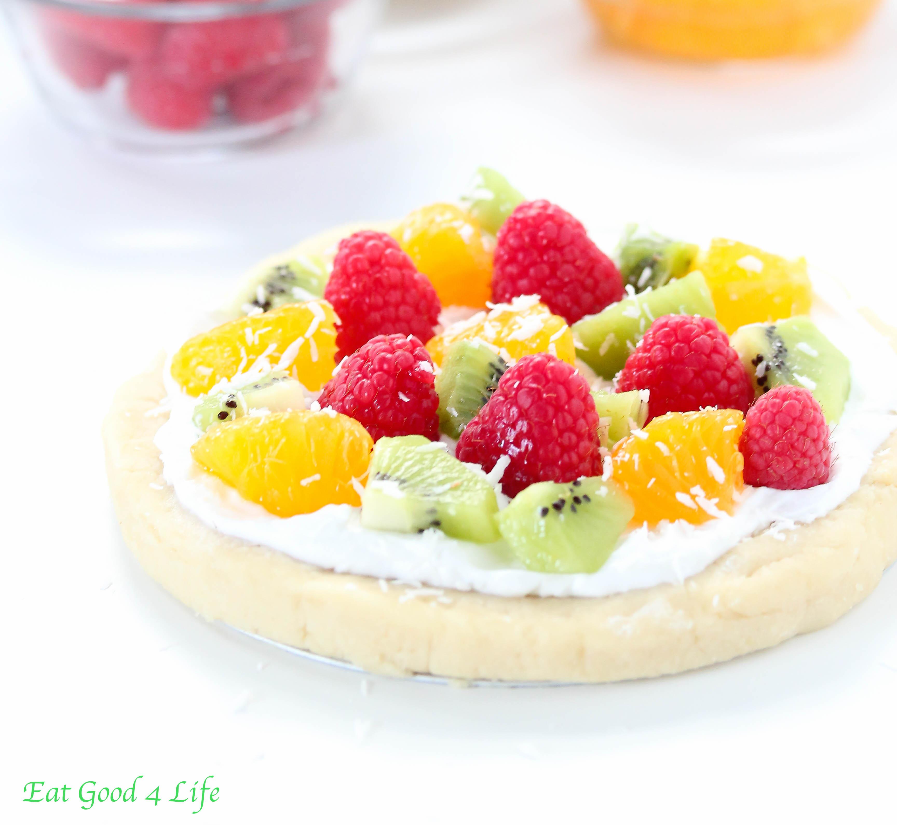 No Bake Fruit Pizza Gluten Free And Vegan