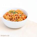 Healthier barley paella