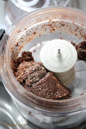 brownie cake with mocha buttercream