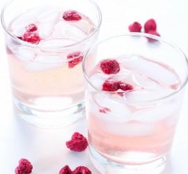 Raspberry and lemon soda