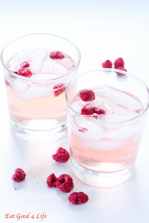 Raspberry and lemon soda