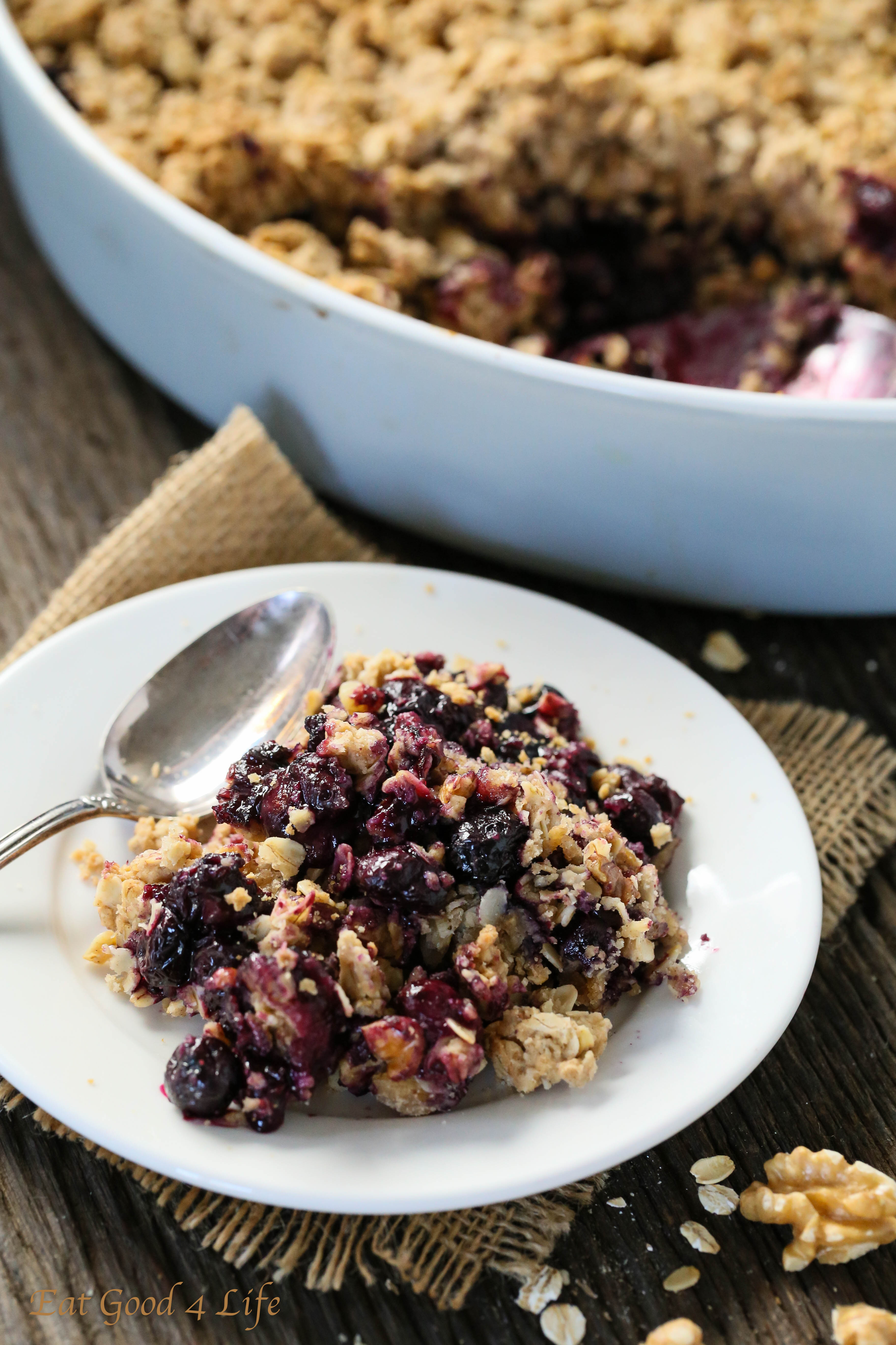 Watch Sugar and Spice Blueberry Crisp video