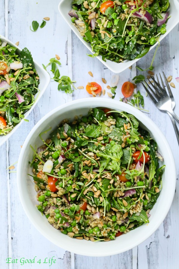 quinoa kale pea salad