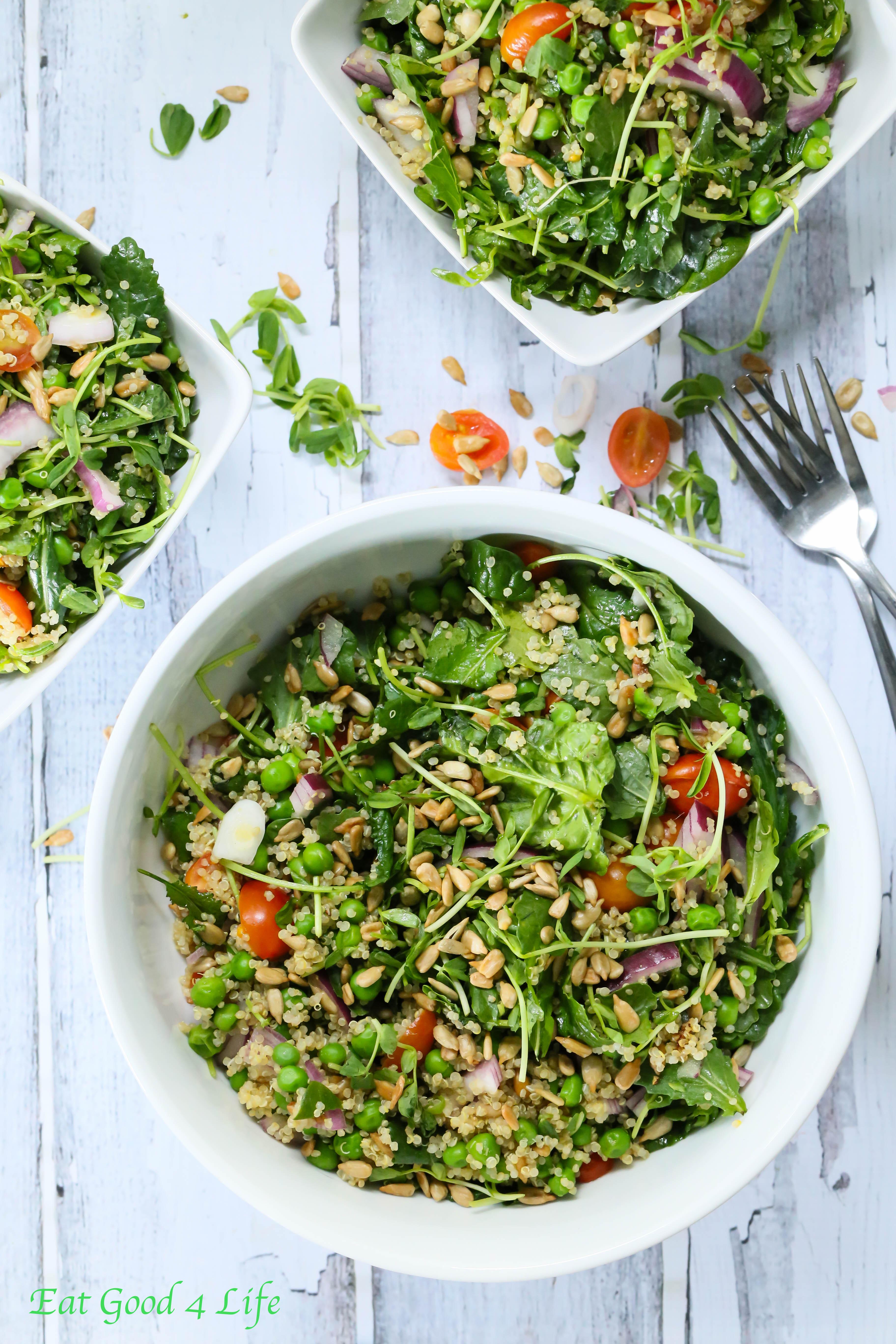 Quinoa Pea Salad Recipe