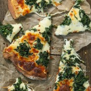 roasted garlic spinach white pizza   Eat Good 4 Life
