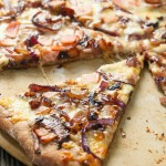 Whole wheat caramelized onion bacon pizza | Eat Good 4 Life