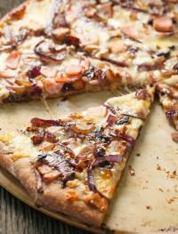Whole wheat caramelized onion bacon pizza | Eat Good 4 Life