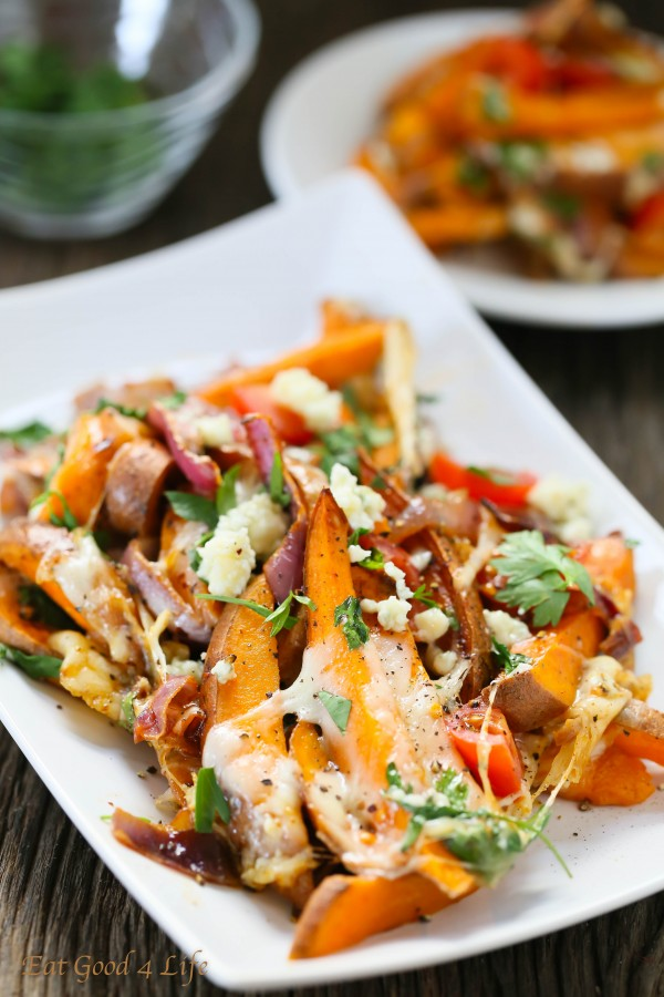 can't rave enough about these Loaded baked sweet potatoes ...