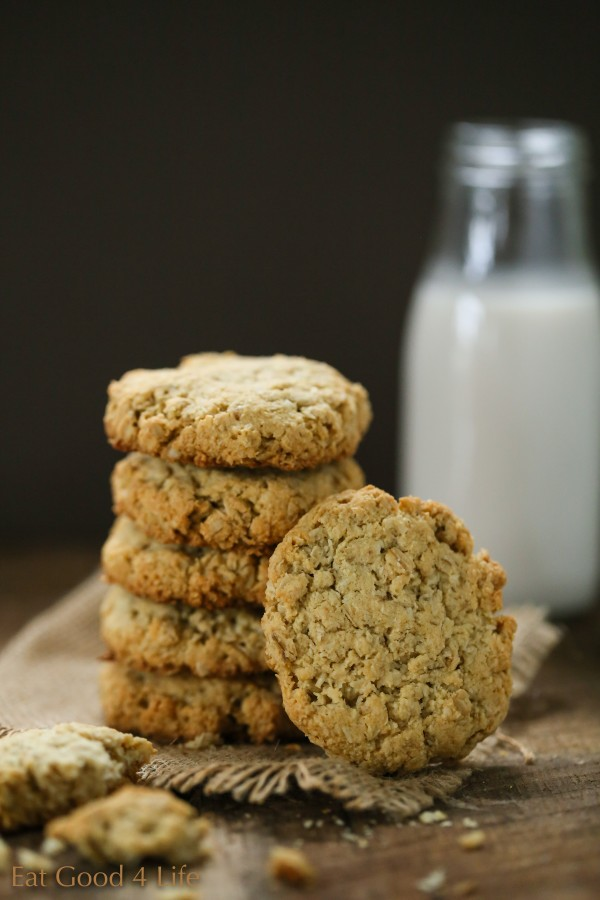 Almond oat cookies, gluten free | Eat Good 4 Life