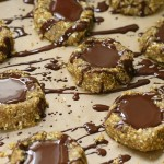 No bake chocolate almond butter thumbprint cookies | Eat Good 4 Life