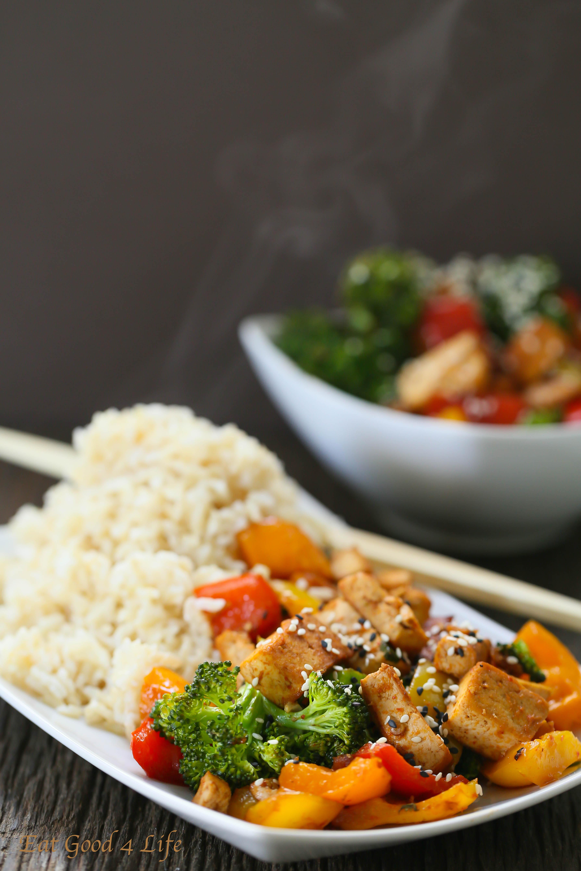 Quick Veggie Tofu Stir-fry