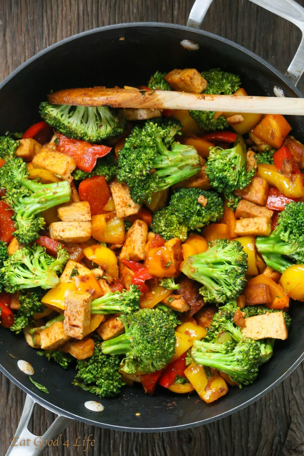 ... quick veggie tofu stir-fry that not only is vegan but gluten free