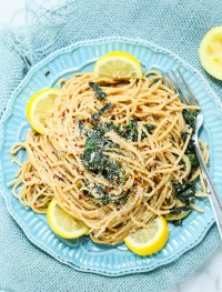 lemon kale whole wheat pasta | Eat Good 4 Life