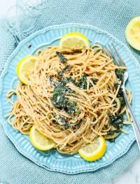lemon kale whole wheat pasta | Eat Good 4 Life