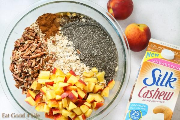 Peaches and cream overnight oats   Eat Good 4 Life