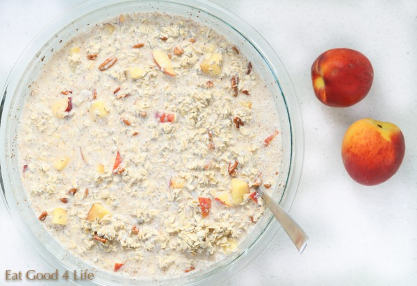Peaches and cream overnight oats | Eat Good 4 Life