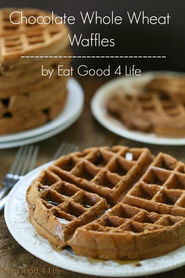 whole wheat chocolate waffles   Eat Good 4 Life