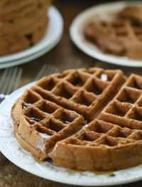 whole wheat chocolate waffles | Eat Good 4 Life