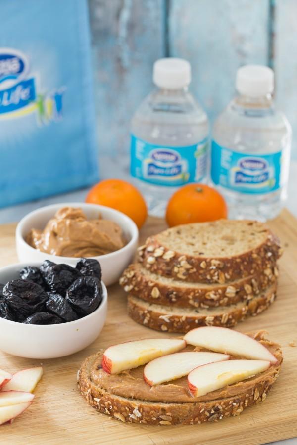almond butter apple sandwich | Eat Good 4 Life