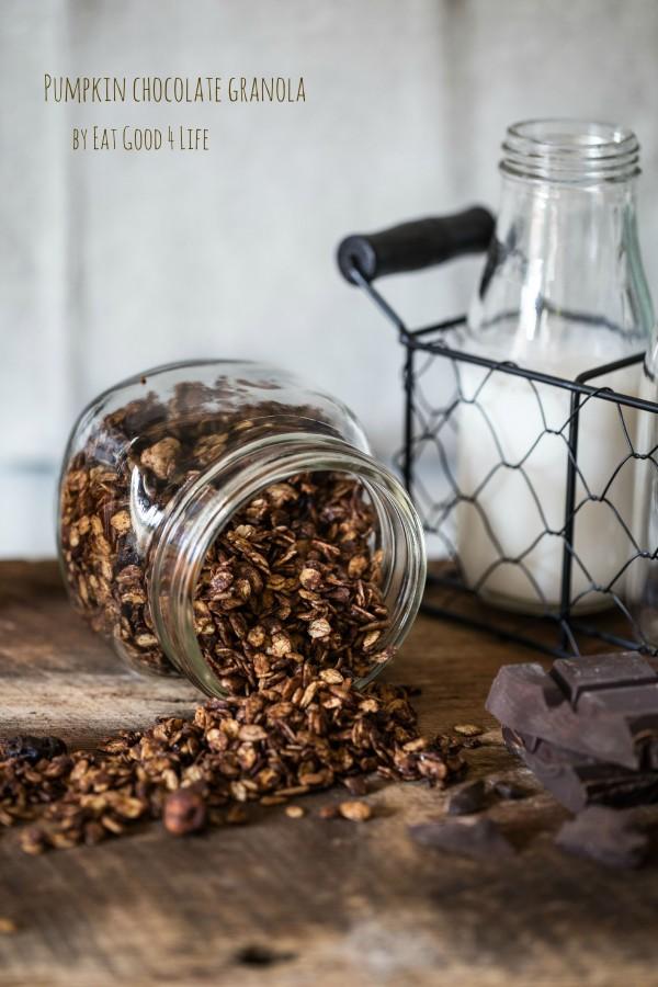 pumpkin chocolate granola | Eat Good 4 Life