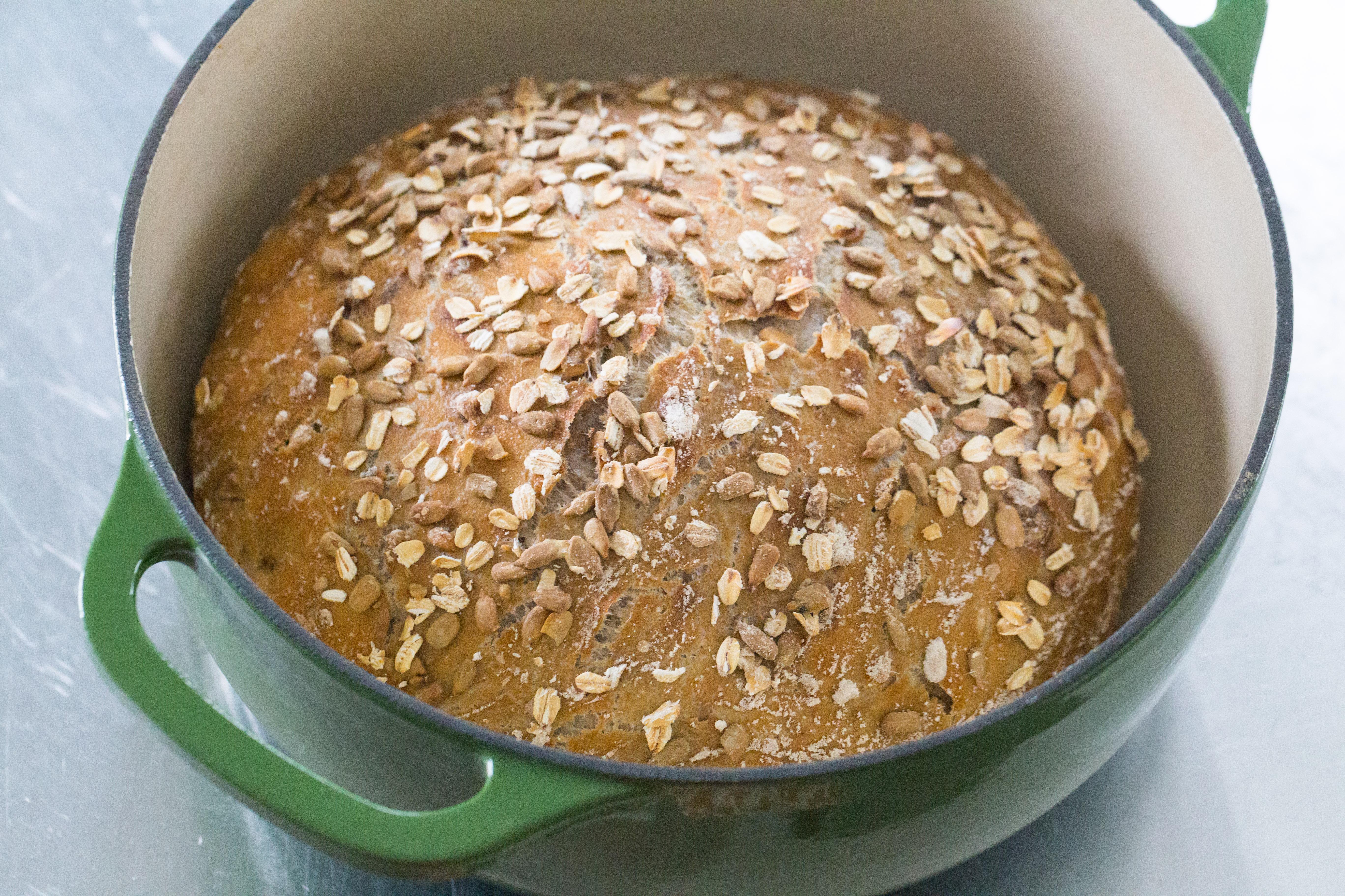 Easy Crusty Whole Wheat Bread