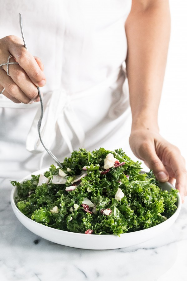 Kale cranberry feta salad | Eat Good 4 Life
