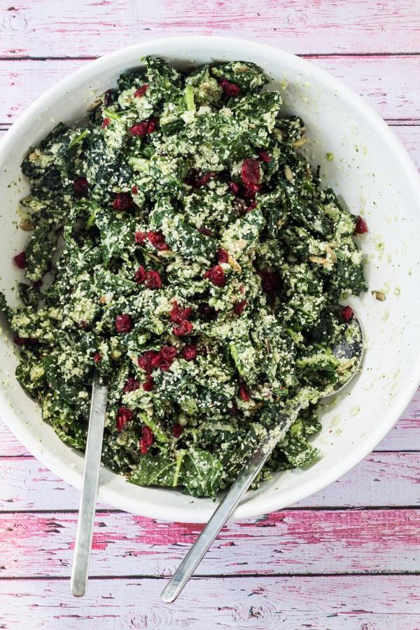 Kale cauliflower salad   Eat Good 4 Life