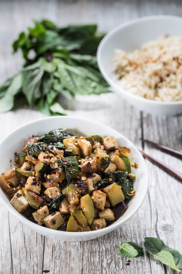 Thai tofu basil with zucchini | Eat Good 4 Life