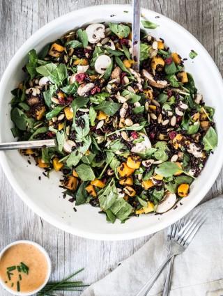 Butternut squash black rice bean salad   Eat Good 4 Life