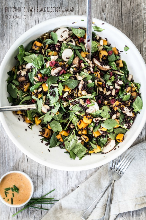 Butternut squash black rice bean salad | Eat Good 4 Life