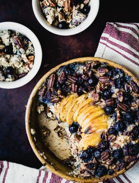 Vegan blueberry apple baked oatmeal | Eat Good 4 Life