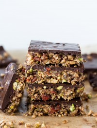 Chocolate goji bars | Eat good 4 life
