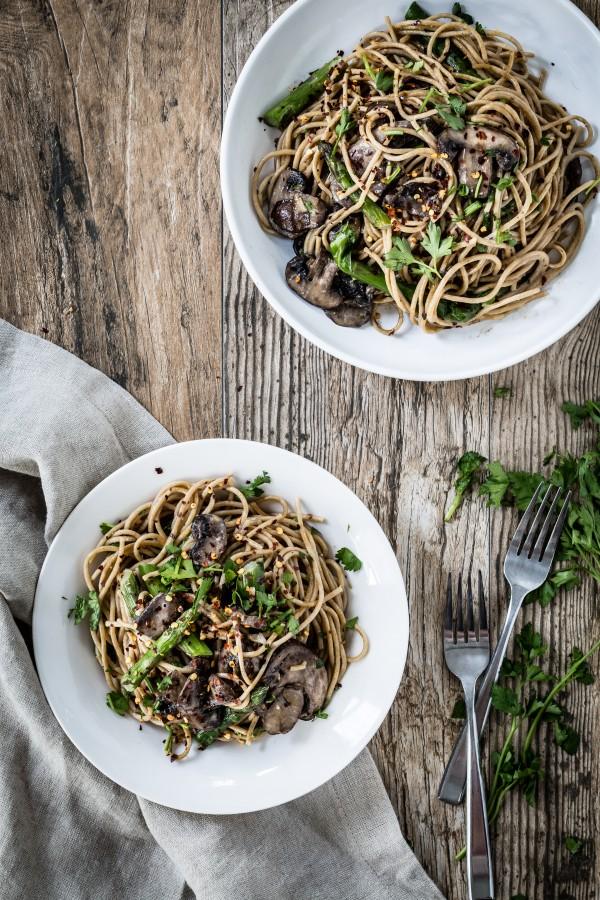 Mushroom asparagus marsala pasta | Eat Good 4 Life