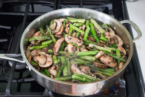 Whole-Wheat Linguine With Mushrooms And Asparagus Recipes — Dishmaps