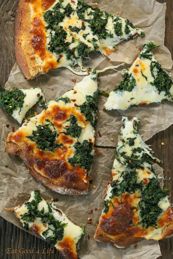 Roasted Garlic Spinach Pizza | Eat Good 4 Life