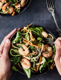 Shrimp kale zucchini salad | Eat Good 4 Life